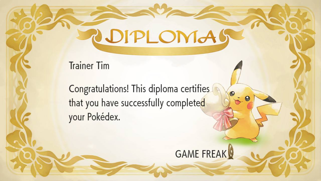 Completed Pokedex National Dex